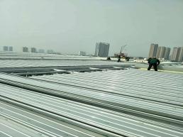 65-430铝镁锰板安装现场