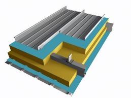 65波高铝镁锰直立锁边屋面系统